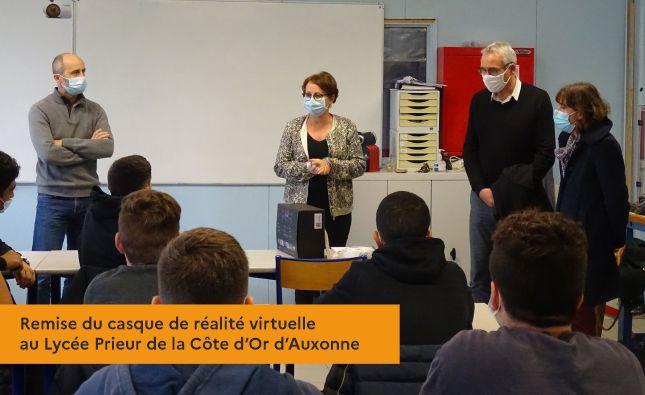 Remise du casque de réalité virtuelle au Lycée Prieur de la Côte d'Or d'Auxonne